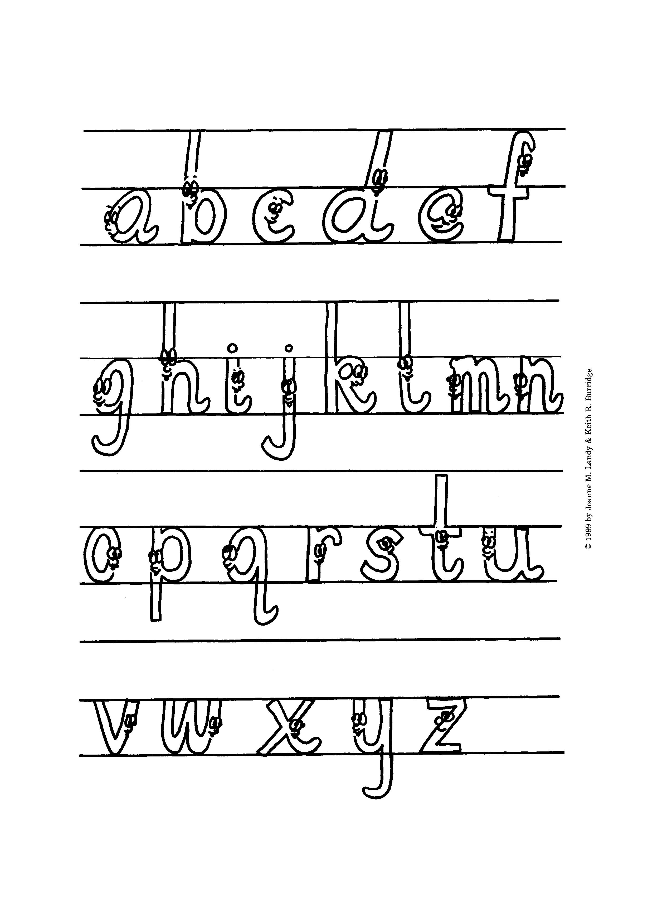Раскраска английская азбука в картинках